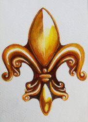 Fleur De Lis by Kathy Stone