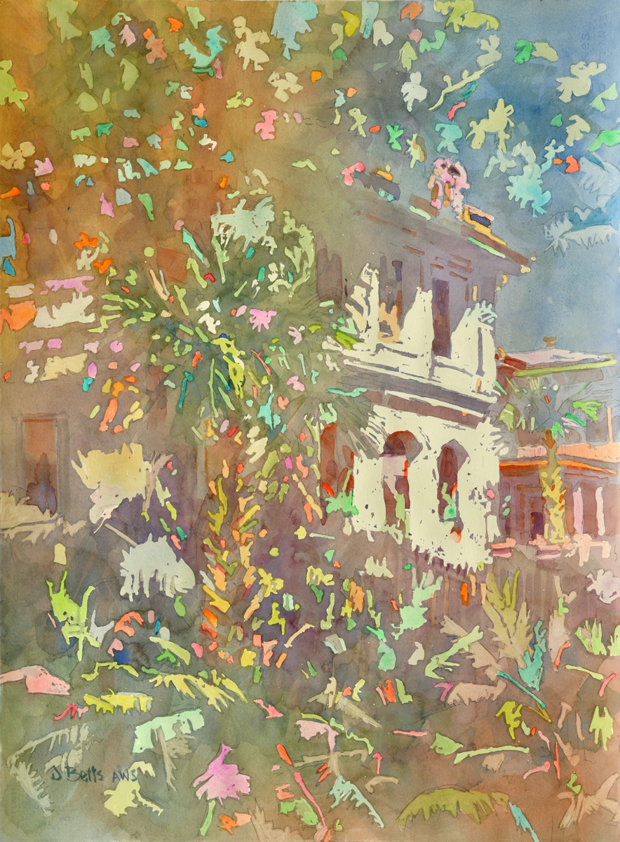painting by Judi Betts titled Luxury Lives Here