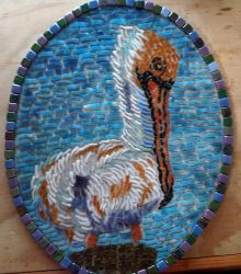 Mosaic Pelican by Betty Gravois