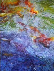 Koi Pond Water by Soon Warren